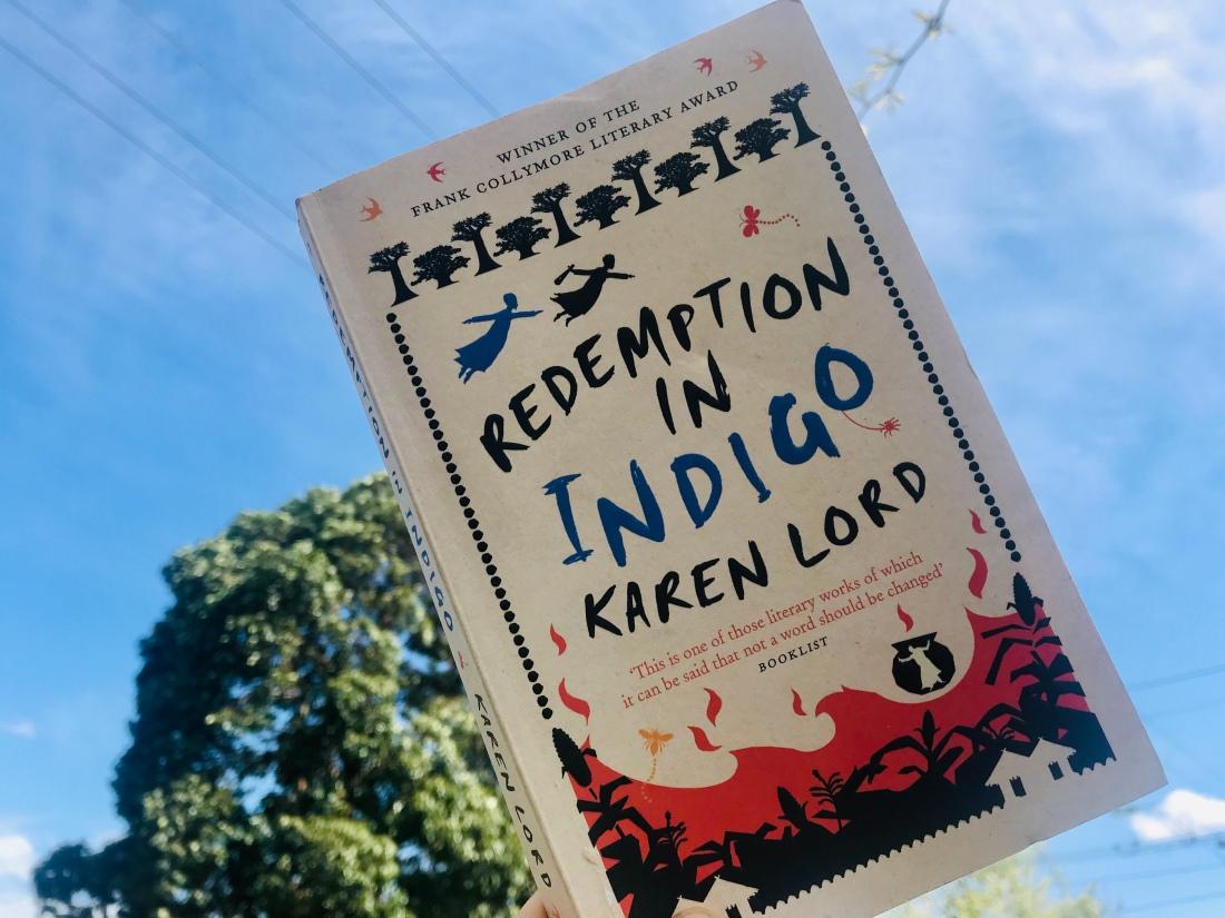 Redemption in Indigo against blue sky