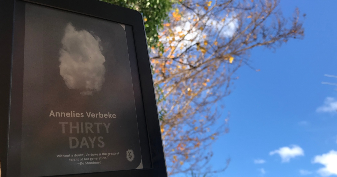 thirty days on kindle with cover as blue sky and single cloud