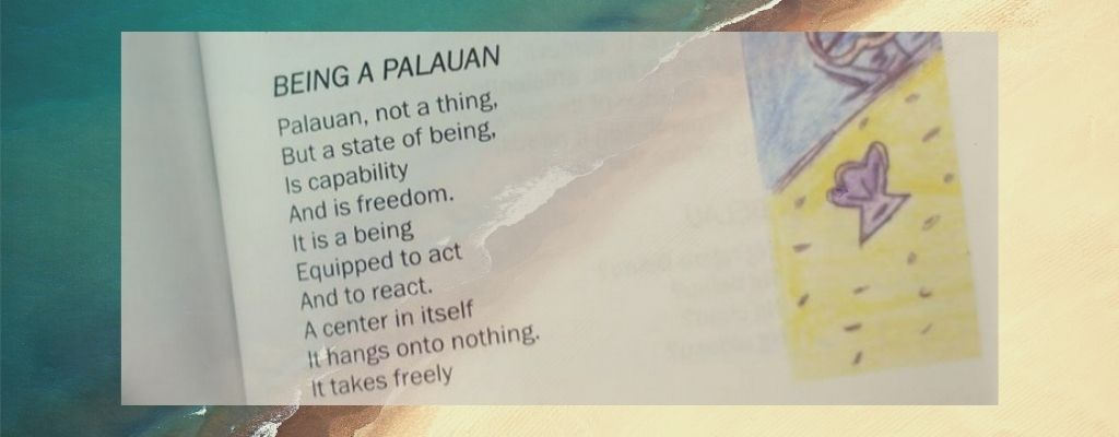 Extract from 'Being a Palauan' against sea backdrop